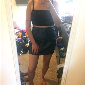 Brand New Urban Outfitters Leather Mini Skirt